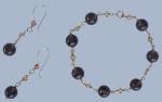 smokey topaz beads with swarovski crystals bracelet